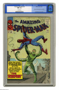 Silver Age (1956-1969):Superhero, The Amazing Spider-Man #20 (Marvel, 1965) CGC NM+ 9.6 Off-whitepages. Another issue, another new supervillain for the Wallc...