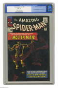 "Silver Age (1956-1969):Superhero, The Amazing Spider-Man #28 (Marvel, 1965) CGC NM 9.4 Off-white to white pages. This issue has probably the ""blackest"" black ..."