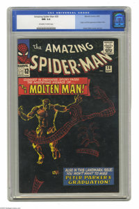 """The Amazing Spider-Man #28 (Marvel, 1965) CGC NM 9.4 Off-white to white pages. This issue has probably the """"blackes..."""