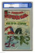 Silver Age (1956-1969):Superhero, The Amazing Spider-Man #29 (Marvel, 1965) CGC NM 9.4 Off-white pages. The Scorpion busts out of the state pen and has only o...