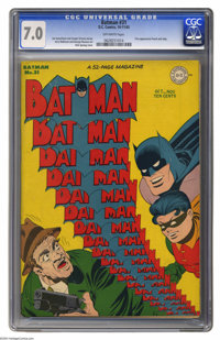 Batman #31 (DC, 1945) CGC FN/VF 7.0 Off-white pages. A complement of fine Bat-artists teamed up for this issue -- Dick S...