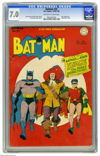 Batman #32 (DC, 1945) CGC FN/VF 7.0 Off-white to white pages. This issue was a dime well-spent back in the day -- not on...