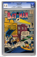 Silver Age (1956-1969):Superhero, Batman #108 (DC, 1957) CGC VF- 7.5 Off-white to white pages. Sheldon Moldoff cover and art. Overstreet 2004 VF 8.0 value = $...
