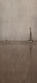 Photographs:Digital, Jefferson Hayman (American, b. 1969). Untitled (TwoSailboats). Digital pigment print. 13-1/8 x 5-3/8 inches (33.3x...