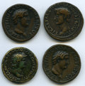Ancients:Greek, Ancients: ANCIENT LOTS. Roman Imperial Copies. Paduans and uncertain cast AE medals.... (Total: 4 coins)