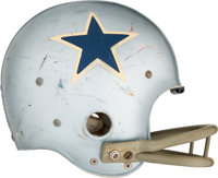 Mid 1960's Mike Gaechter Game Worn Dallas Cowboys Helmet - Extremely Scarce Style!