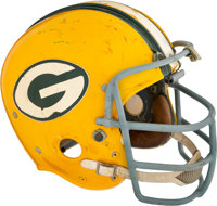 1967-69 Dave Robinson Game Worn Green Bay Packers Helmet--Photo Matched!