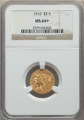 1910 $2 1/2 MS64+ NGC. NGC Census: (775/205 and 18/11+). PCGS Population: (493/142 and 27/7+). CDN: $900 Whsle. Bid for...