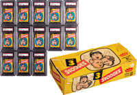 "1959 Fleer ""The 3 Stooges"" Unopened Wax Packs Lot of 13 with Empty Box"