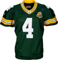 Football Collectibles:Uniforms, 2007 Brett Favre Game Worn, Signed Green Bay Packers Jersey - Used 10/14 vs. Redskins (Photo Matched). ...