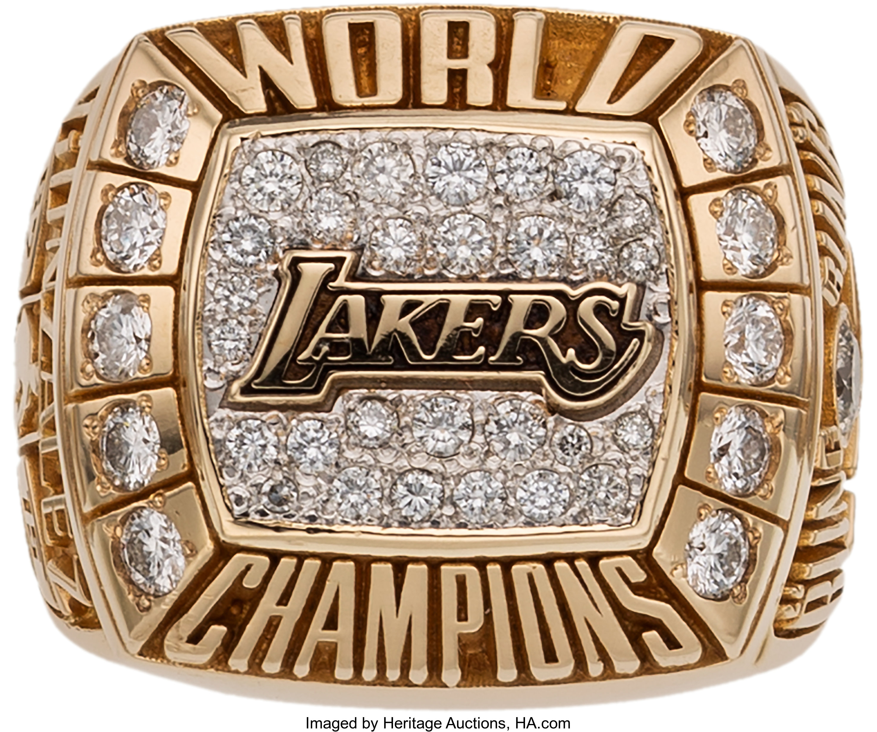 2000 Los Angeles Lakers Nba Championship Ring Basketball Lot 80103 Heritage Auctions