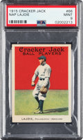 Baseball Cards:Singles (Pre-1930), 1915 Cracker Jack Nap Lajoie #66 PSA Mint 9 - None Higher....