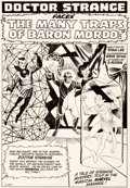 Original Comic Art:Splash Pages, Steve Ditko Strange Tales #117 Splash Page 1 Doctor StrangeOriginal Art (Marvel, 1964)....