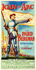 "Movie Posters:Drama, Joan of Arc (RKO, 1948). Folded, Very Fine-. Three Sheet (41"" X 80"").. ..."