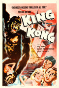 """Movie Posters:Horror, King Kong (RKO, R-1956). Very Fine on Linen. One Sheet (27"""" X 41"""").. ..."""
