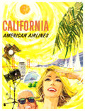 """Movie Posters:Miscellaneous, California (American Airlines, Early 1960s). Very Fine on Linen. Travel Poster (30"""" X 39.5"""") Peter Boyle Artwork.. ..."""