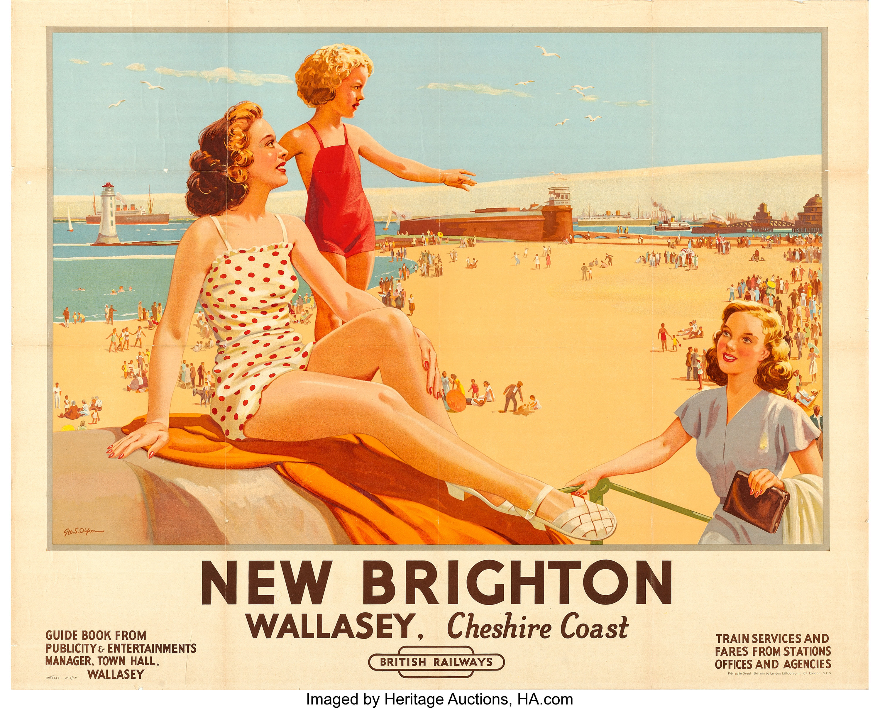 NEW BRIGHTON WIRRAL POSTER VINTAGE ADVERTISING RETRO RAILWAY TRAVEL ART
