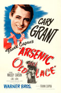 """Movie Posters:Comedy, Arsenic and Old Lace (Warner Brothers, 1944). Very Fine- on Linen.One Sheet (27"""" X 41"""").. ..."""