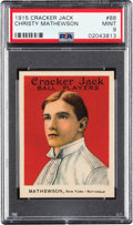 Baseball Cards:Singles (Pre-1930), 1915 Cracker Jack Christy Mathewson #88 PSA Mint 9 - None Higher....