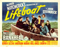 Movie Posters:Hitchcock, Lifeboat (20th Century Fox, 1944). Fine+ on Linen....