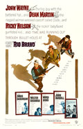 """Movie Posters:Western, Rio Bravo (Warner Brothers, 1959). Fine/Very Fine on Linen. One Sheet (26.75"""" X 41.75"""").. ..."""