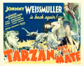 "Movie Posters:Adventure, Tarzan and His Mate (MGM, 1934). Fine- on Linen. Half Sheet (22"" X 28"").. ..."