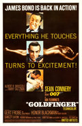 "Movie Posters:James Bond, Goldfinger (United Artists, 1964). Very Fine+ on Linen. One Sheet (27"" X 41"") Glossy Style.. ..."