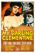 "Movie Posters:Western, My Darling Clementine (20th Century Fox, 1946). Fine+ on Linen. One Sheet (27"" X 41"") Sergio Gargiulo Artwork.. ..."