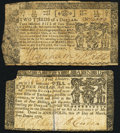 Colonial Notes:Maryland, Maryland March 1, 1770 $4 Very Fine.. Maryland April 10, 1774 $2/3 Fine-Very Fine.. ... (Total: 2 notes)