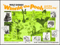 "Movie Posters:Animation, Winnie the Pooh and the Blustery Day (Buena Vista, 1969) Folded, Very Fine-. Day-Glo British Quad (30"" X 40""). Animation...."