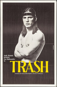 """Trash & Other Lot (Cinema 5, 1970). Folded, Fine/Very Fine. One Sheet & Trimmed One Sheet (Approx. 27"""" X 41..."""