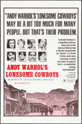 "Movie Posters:Exploitation, Andy Warhol's Lonesome Cowboys (Sherpix, 1968) Folded, Very Fine.One Sheet (27"" X 40.5""). Exploitation...."