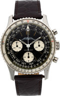 Timepieces:Wristwatch, Breitling, Navitimer Ref. 806 AOPA, Stainless Steel Chronograph, Circa 1960's. ...