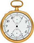 Timepieces:Other , Patek Philippe & Cie, Gold Split Seconds Watch Case & DialFor Tiffany & Co. . ...