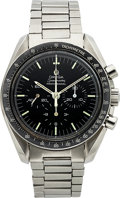 Timepieces:Wristwatch, Omega, Speedmaster Professional, Ref. 145.022 69 ST, Rare StraightWriting Case Back, circa 1973. ...