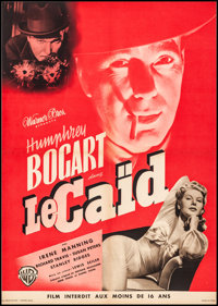 """The Big Shot (Warner Brothers, 1942) Rolled, Very Fine-. First Post War Release French Moyenne (21.5"""" X 30.5"""")..."""