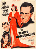 """Movie Posters:Drama, They Drive by Night (Warner Brothers, 1940) Fine/Very Fine on Linen. French Moyenne (23"""" X 31.25""""). Drama...."""