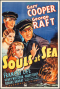 "Movie Posters:Adventure, Souls at Sea (Paramount, 1937) Good+ on Linen. One Sheet (27"" X 41""). Adventure...."