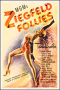 "Movie Posters:Musical, Ziegfeld Follies (MGM, 1945) Fine/Very Fine on Linen. One Sheet (27"" X 41"") Style C. Musical...."