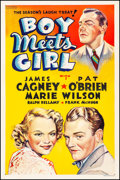 """Movie Posters:Comedy, Boy Meets Girl (Warner Brothers, 1938) Fine/Very Fine on Linen.Other Company One Sheet (27"""" X 41""""). Comedy...."""