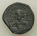 Ancients:Byzantine, Ancients: Anonymous. Class A3. Time of Basil II-Constantine VIII(ca. AD 1020-1028). AE follis (28mm, 10.25 gm, 6h). XF....