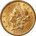 Liberty Double Eagles, 1874 $20 MS62 PCGS. CAC....