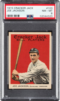 1915 Cracker Jack Joe Jackson #103 PSA NM-MT 8 - Only Two Higher