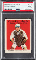 Baseball Cards:Singles (Pre-1930), 1915 Cracker Jack Ted Easterly #117 PSA Mint 9 - Pop Two, None Higher. ...