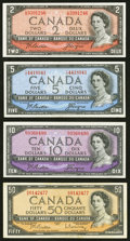 World Currency, Group of 4 Bank of Canada Notes Very Fine or Better.. ... (Total: 4notes)