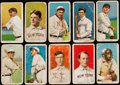 Baseball Cards:Lots, 1909-11 T206 Sweet Caporal or Piedmont Tobacco Collection (10) withHoFers & Overprint. ...