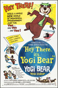 "Movie Posters:Animation, Hey There, It's Yogi Bear (Columbia, 1964) Folded, Very Fine. OneSheet (27"" X 41""). Animation...."