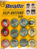 Music Memorabilia:Memorabilia, Beatles One Set of Flip-Buttons (mid-1960s)....