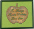 Music Memorabilia:Memorabilia, Beatles Happy Birthday Ringo Brass Apple....