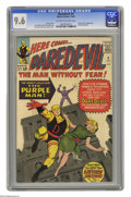 Silver Age (1956-1969):Superhero, Daredevil #4 (Marvel, 1964) CGC NM+ 9.6 Off-white to white copies.Oh, my! What a copy! CGC hasn't awarded a higher grade fo...